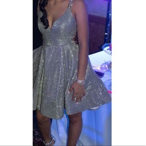 Metallic beaded dress